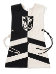 Wappenrock Adler schwarz/weiß, Gr. 1