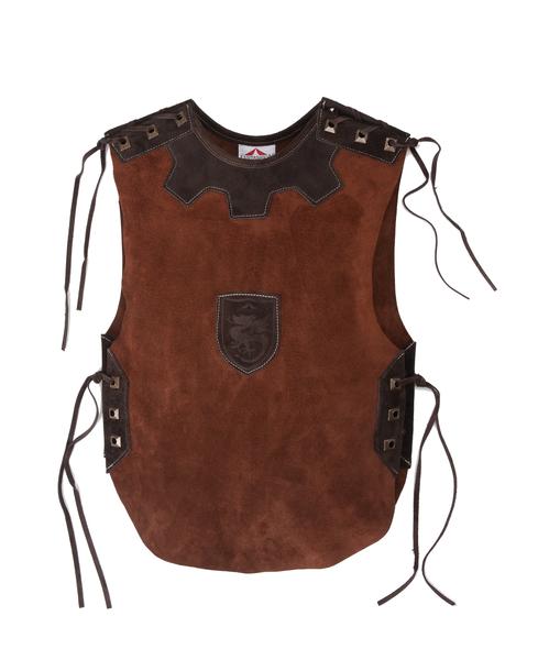 Ritterhemd Leder dunkelbraun