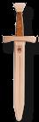 Kurzschwert mit Ledergriff