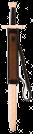 Doppelhand Schwert Dunkelbraun