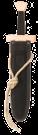 Kurzschwert Set Leinen - schwarz