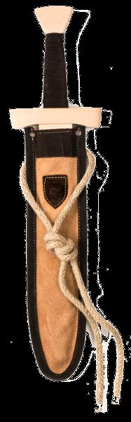 Kurzschwert Set Leder hellbraun-dunkelbraun