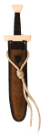 Kurzschwert Set Leder rotbraun-dunkelbraun