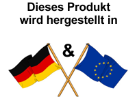 Garantie: Unsere Artikel werden hergestellt in Deutschland und der EU